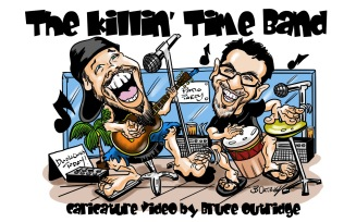 Killin-Time-Band-caricature-Video-cover