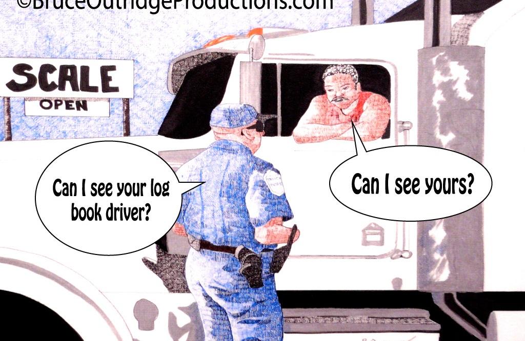 Log Book cartoon by Bruce Outridge
