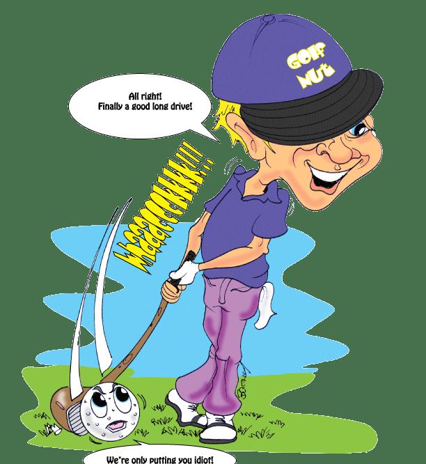 The-Putting-Shot-Cartoon