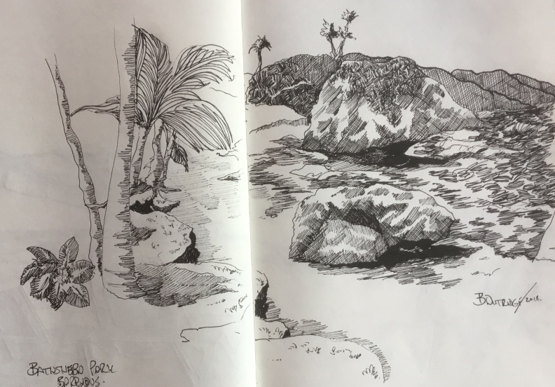 Bathsheba sketch by Bruce Outridge