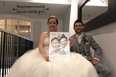 Weddings and corporate event caricature image