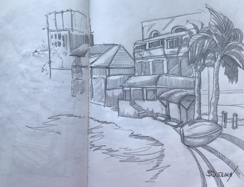 Sketch of The Gap-Barbados