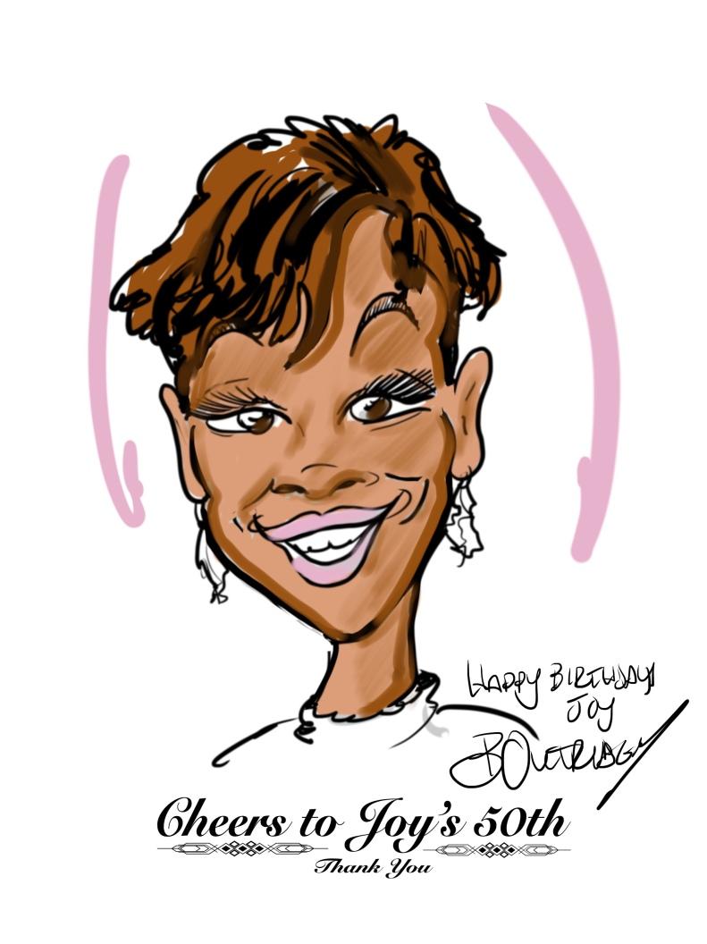 Joy caricature