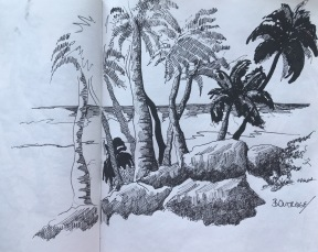 Bottoms Bay South Sketch