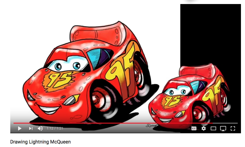 Lighting McQueen colour and highlights