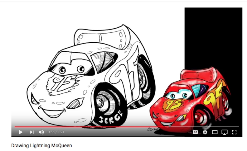 Lightning McQueen -blacks and hatching