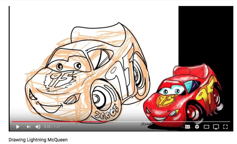 Lightning McQueen Detail