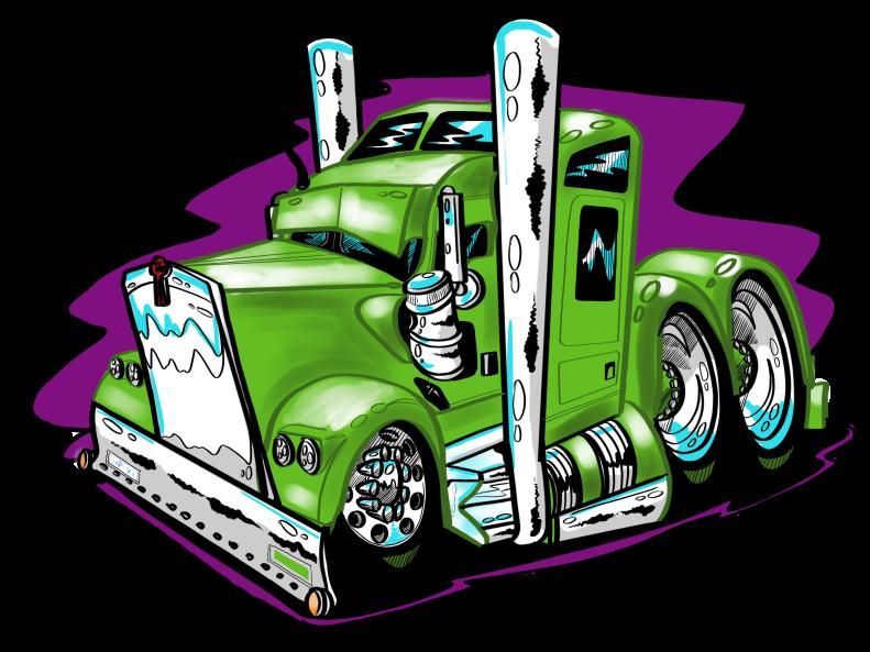 Custom Green Truck-Complete