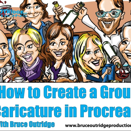 group-caricature-in-Procreate-Cover-Image