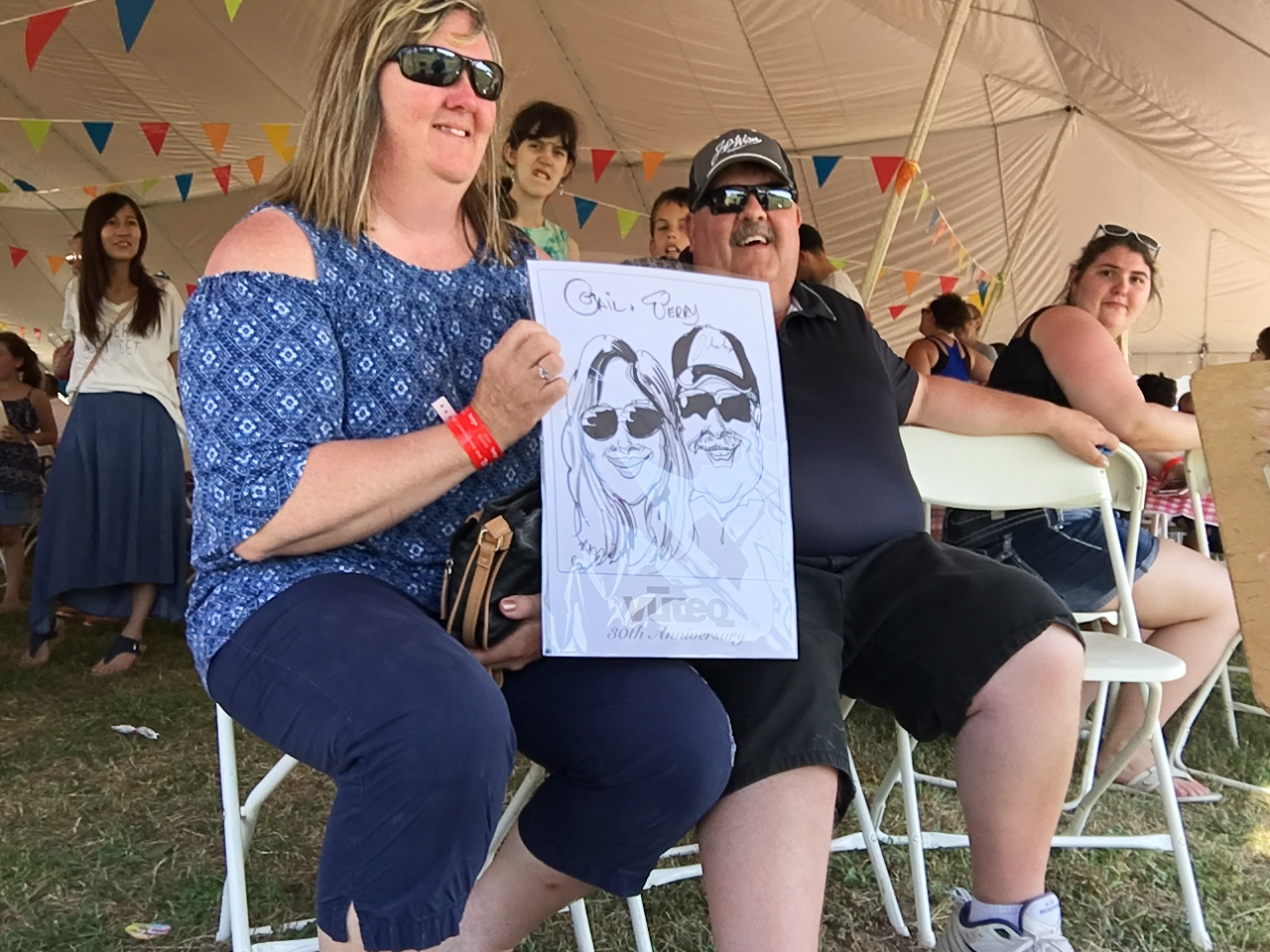 Caricatures at Vuteq Company Picnic a Big Hit!