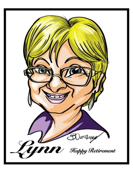 Monica-Vandenberghe Gift Caricature