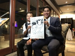 Sara and Tito's Wedding Caricatures