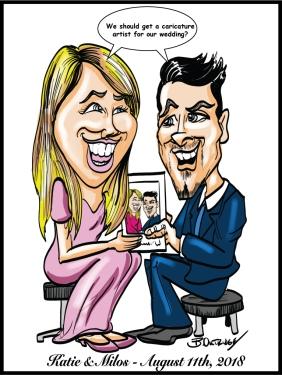Milos-and-Katie-Caricature