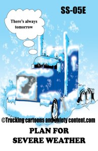 Trucking cartons and safety content posters