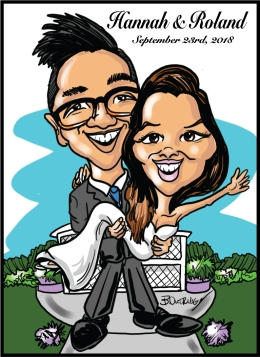 hannah-and-Roland-caricature