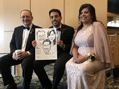 Mira and David Wedding Caricatures