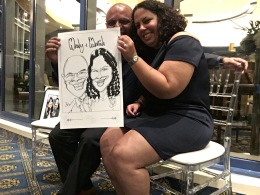 Mira and David Wedding Caricatures