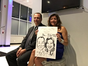 Valerie and jason's Wedding Caricatures