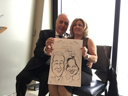 Nancy and Nick Wedding Caricatures