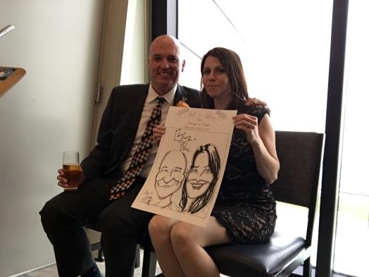 Nancy and Nick Wedding Caricatures