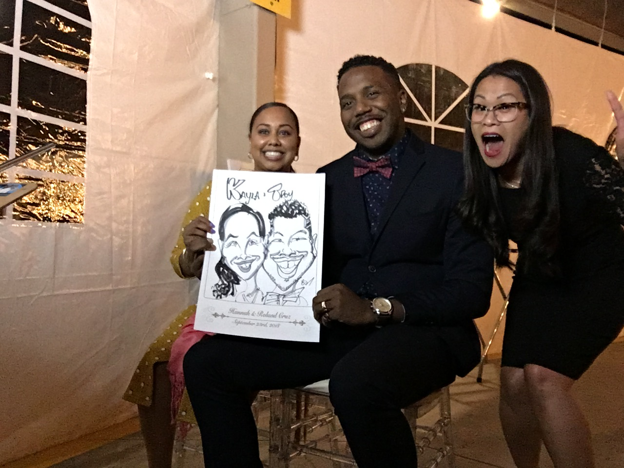 Hannah and Roland's Wedding Caricatures-September 23, 2018