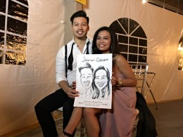 Hannah and Roland's Wedding Caricatures