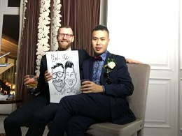 Kandaharians Wedding Caricatures