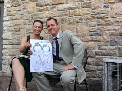 Tony and Patti's Wedding Caricatures