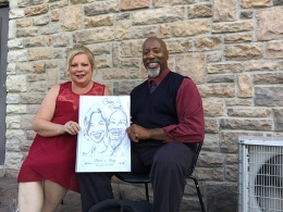 Tony and Patti's Wedding Caricatures