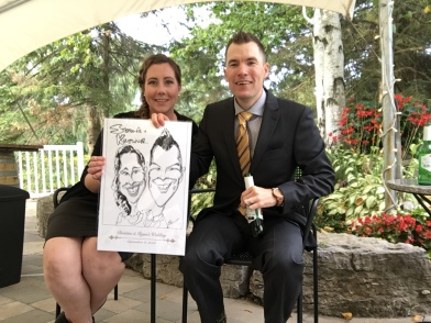 Ryan and Christine's Wedding caricatures