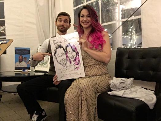Ryan and Christine's Wedding caricatures