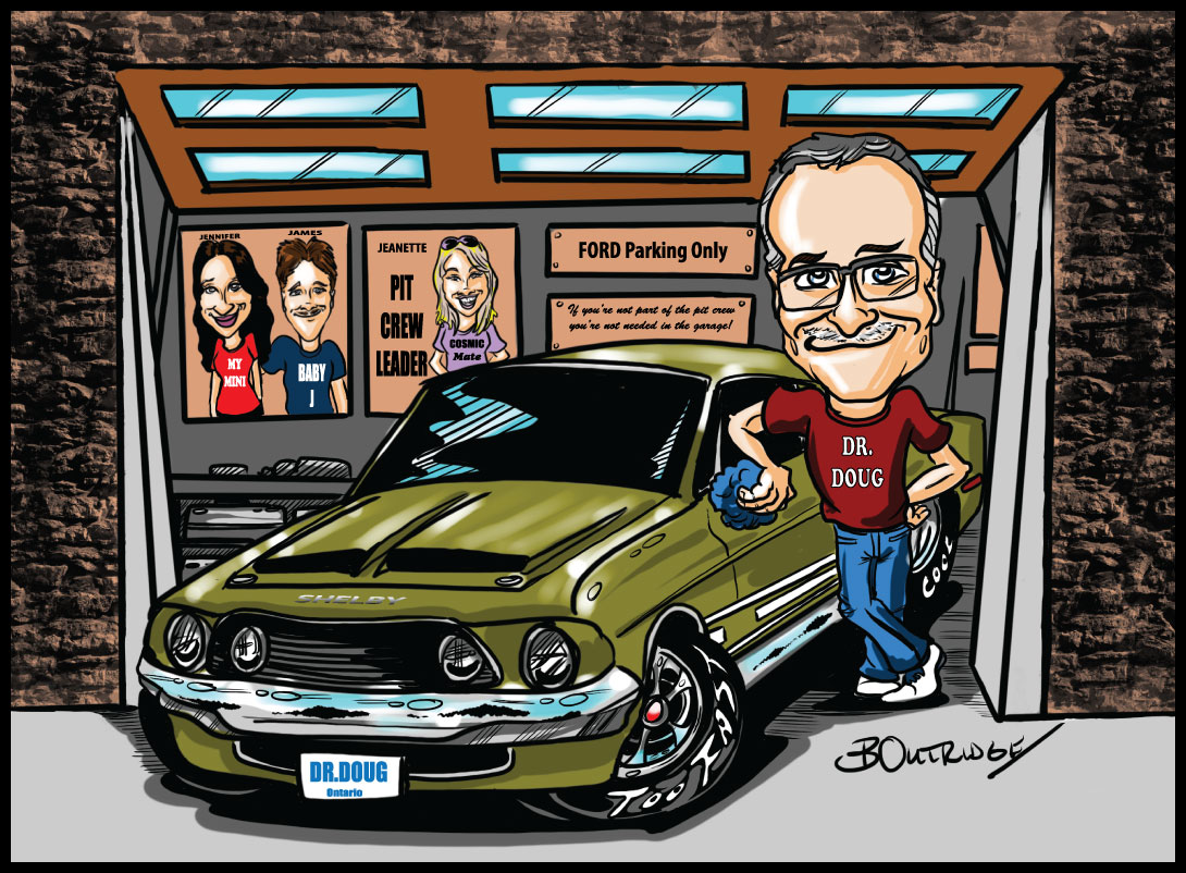 Vehicle caricature by Bruce Outridge Productions