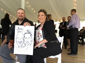 Vanessa and Johnny Wedding Caricatures