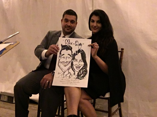 Vanessa and Johnny Wedding Caricatures