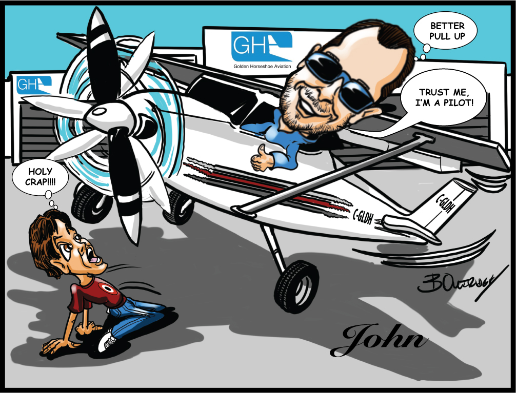 Flying High with a Gift Caricature-Client Testimonial