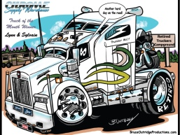 Truck Vehicle Caricature by Bruce Outridge Productions