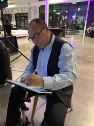 Bruce Outridge Drawing Digital Caricatures