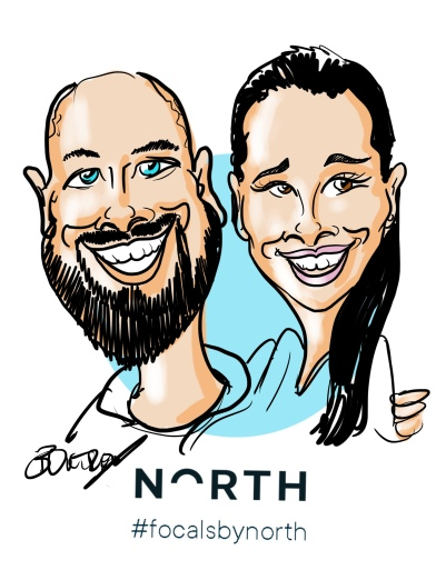 North Focals Digital Caricature Event
