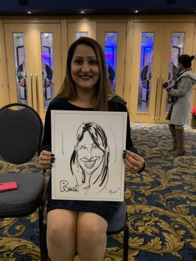 Company Christmas Caricature Event