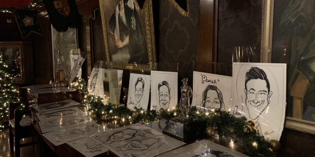 Christmas Party Caricature