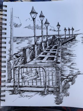 Speightstown Sketch by Bruce Outridge
