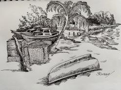 Oistins Sketch 2 by Bruce Outridge