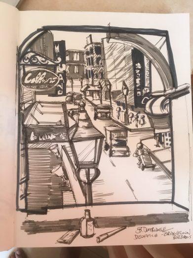 Bridgetown Barbados Sketch