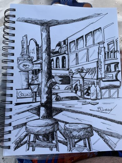 Bridgetown Barbados Sketch
