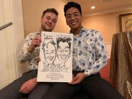 Yvonne and Warren's Wedding Caricatures