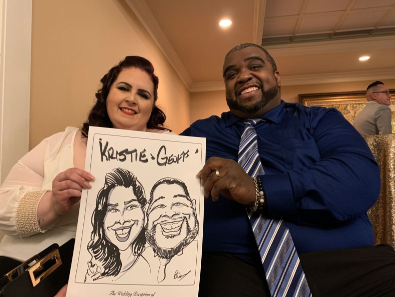 Yvonne and Warren's Wedding Caricatures