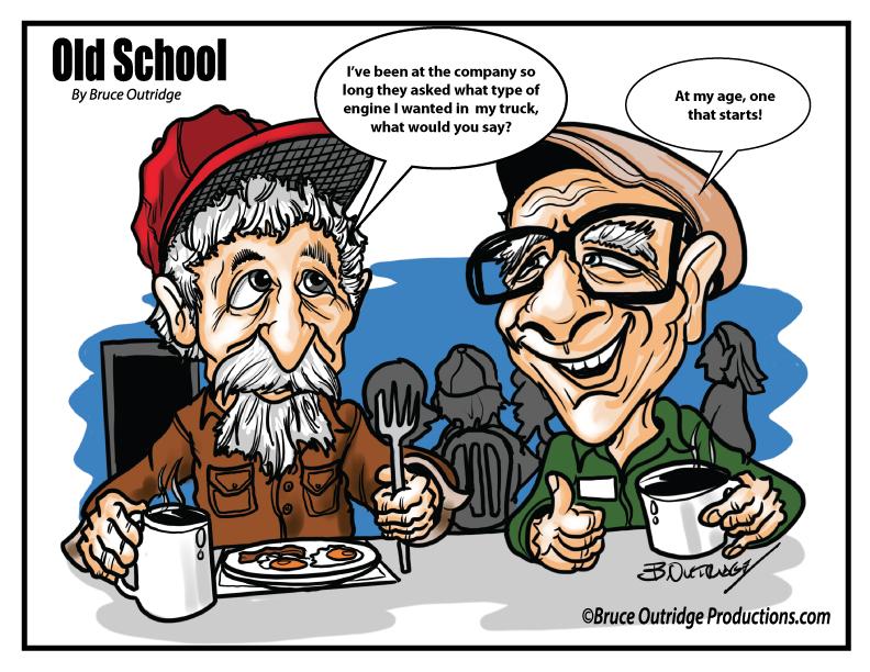 Old-School-Trucker Cartoon