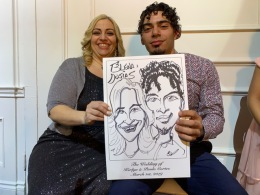 Kerlyn Cortes Wedding Caricatures