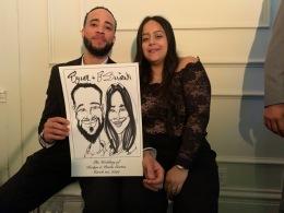 Kerlyn Cortes Wedding Caricatures