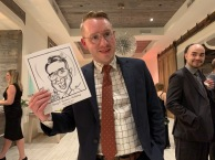 Amy and Kevin's Wedding Caricatures